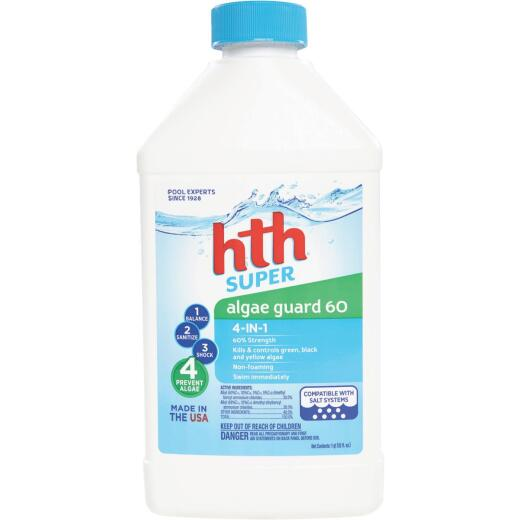 HTH Super Algae Guard 60 1 Qt. Liquid Algae Control