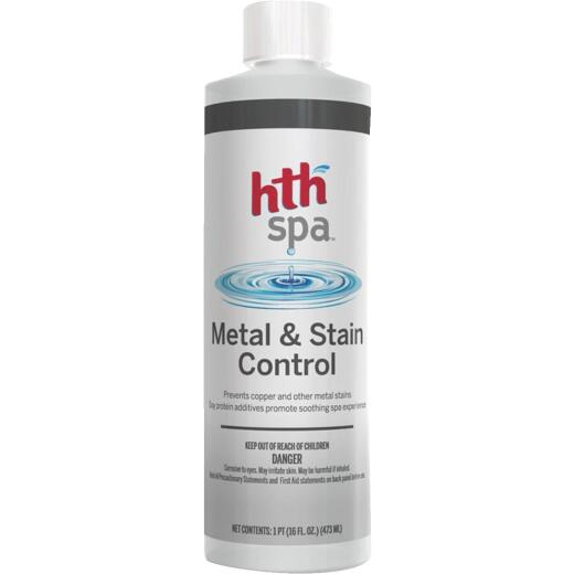 HTH Spa 1 Pt. Liquid Stain & Metal Control